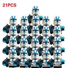 21 pçs/lote starwars airborne senado commando trooper sw522 utapa trooper sw523 sw188 blocos brinquedos em estoque para presentes das crianças