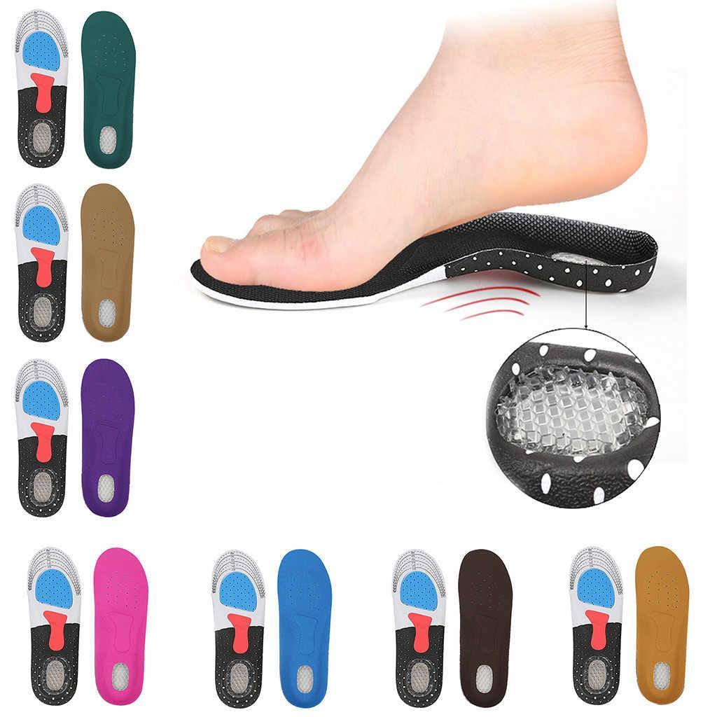 Las mujeres engrosamiento de absorción de choque, Zapatos de deporte de almohadillas de silicona suave plantilla
