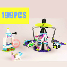01006 10556 Lepin 41128 Friends Space Ship Amusement Park figure Building Block Girl Compatible with lego Gifts kid set