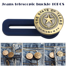 10pcs Jeans Retractable Button Adjustable Detachable Extended Button for Clothing Jeans Add Your Pants Waistband