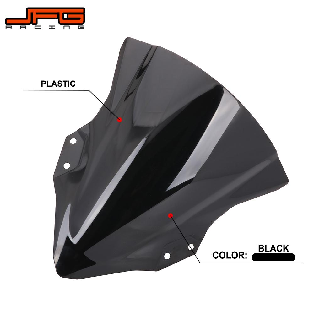 Motorcycle <font><b>Windscreen</b></font> Windshield Baffle Wind Deflectors For KAWASAKI <font><b>Ninja</b></font> <font><b>400</b></font> Ninja400 2018 2019 Street Bike image