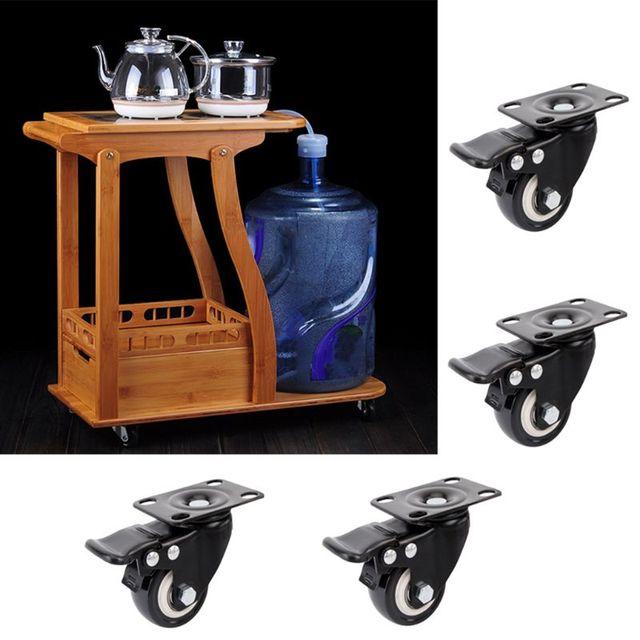Фото 4 шт сверхмощные плоские нижние колесики с тормозной поворотной цена