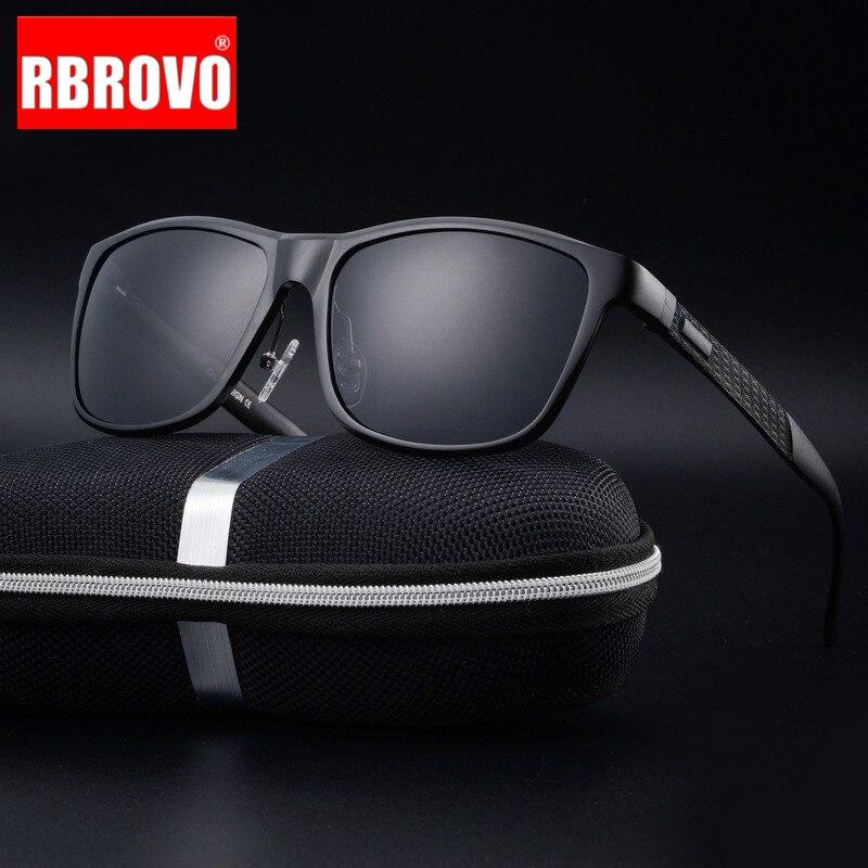 RBROVO 2020 Polarized Aluminum Magnesium Alloy Sunglasses Men Brand Design Sun Glasses Classic Retro Outdoor Glasses