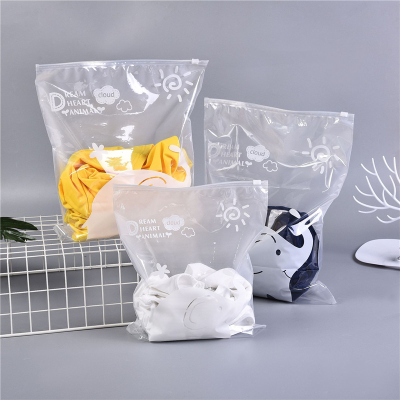 VOGVIGO Cute Baby Elephant Travel Storage Bags Translucent Bag Sealed Transparent Ziplock Clothing Bra Shoes Storage Pouch