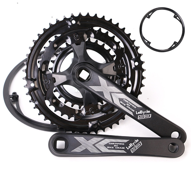 28/38/48T Mountain bike Crank Set Hollow Tooth Plate Bike Crank Set 6 7 8 9 Speed MTB Bicycle Crankset Sprocket 170mm 5 colors|Bicycle Crank & Chainwheel|   - title=