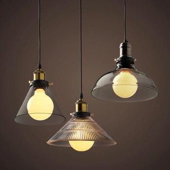 Industrial glass pendant lights lighting Pendant lights Suitable for restaurant bar loft hotel led lighting
