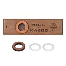 Деревянная гармоника kazoo orff инструменты укулеле гитара партнер Вудман деревянная гармоника с металлической коробкой kazoo для взрослых детей kazoo