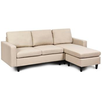 Sectional Fabric L-Shaped Couch  1