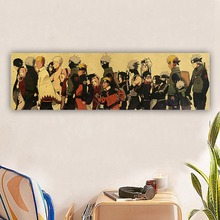 Anime  Sasuki Kakashi Figure Vintage Stickers Poster Fans Collection for Bar Bedroom Home Decorative