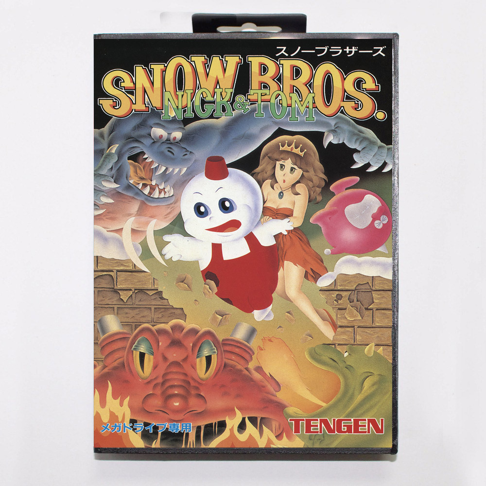 Snow Bros Nick /& Tom Customized Game Megadrive Mega Drive Genesis