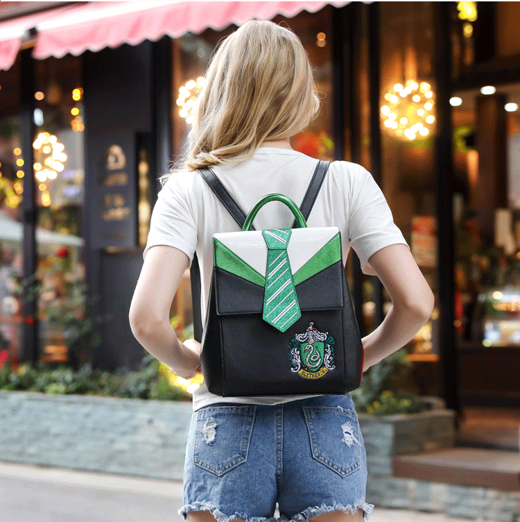Hogwarts School Of Witchcraft And Wizardry Gryffindor Hufflepuff   Ravenclaw  Slytherin  Backpack Bags Women Bag