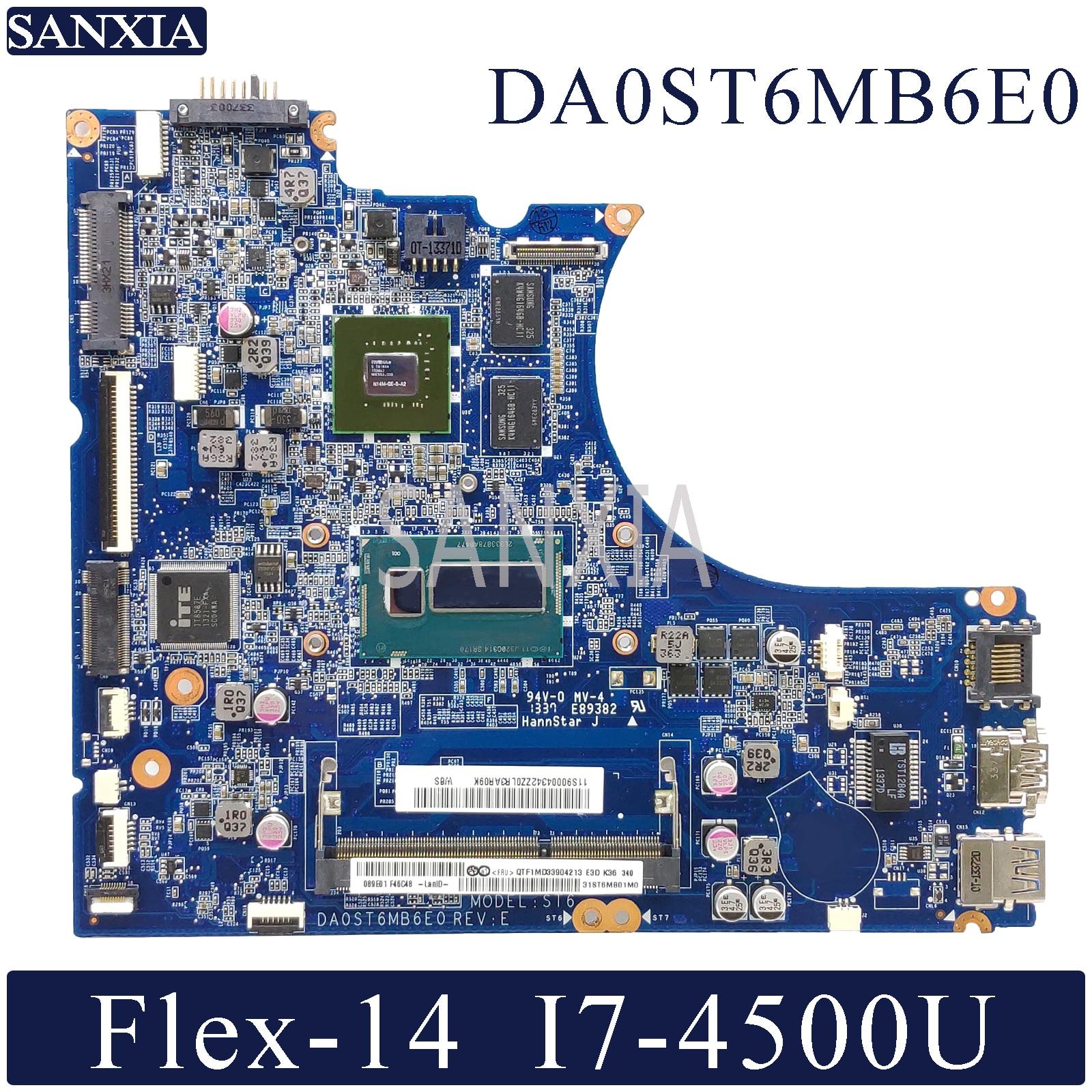 KEFU DA0ST6MB6E0 Laptop Motherboard For Lenovo Flex-14 Original Mainboard I7-4500U GT720M