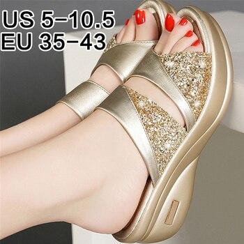 Summer Shoes Woman Platform Sandals Ladies Gladiator Sandals Women Bling Wedage Shoes Woman Sandals High Heels Sandalias Mujer