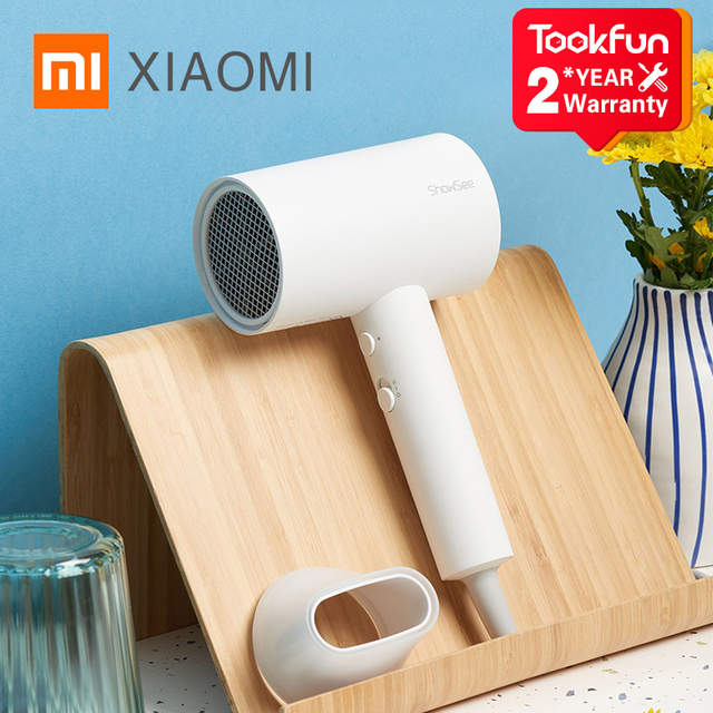 New XIAOMI SHOWSEE A1 W Anion Hair Dryer Negative Ion care Professinal Quick Dry Home 1800W Portable Hairdryer Diffuser Constant