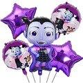 Мультяшный набор воздушных шаров для девочек-вампиров, детские украшения на день рождения и Хэллоуин, воздушные шары, товары для вечерние Р...