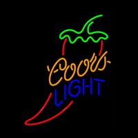 Coors Light Red Chili Pepper Food Neon sign Mecico Handmade Real Glass Tube Restaurant Dish Bar Store Display Neon Signs 19