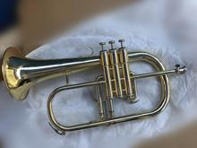 BULUKE High quality Brand Professional  Flugelhor Gold Lacquer With Case Profession Flugelhorns Bb Yellow Brass Bell