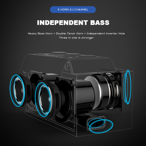 Image 3 - SOAIY S68 Mini LED Speakers 25W Portable Wireless Bluetooth Speaker Smart Bass Outdoor with 3 Drivers Support FM TF Fast Ship