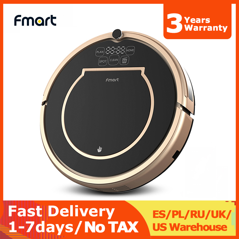 Fmart Robot Vacuum Cleaner E200 Wet and Dry Gyro Navigation Auto Recharge Multiple Sensors 4 Cleaning Modes for Home Cleaning image