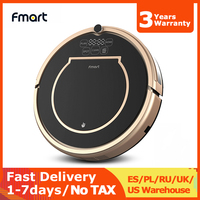 Fmart Robot Vacuum Cleaner E200 Wet and Dry Gyro Navigation Auto Recharge Multiple Sensors 4 Cleaning Modes for Home Cleaning