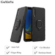 Guxinya Phone Cases For Samsung Galaxy A7 2018 Luxury Armor Magnetic Ring Cover Capa 6.0 A750 Fundas