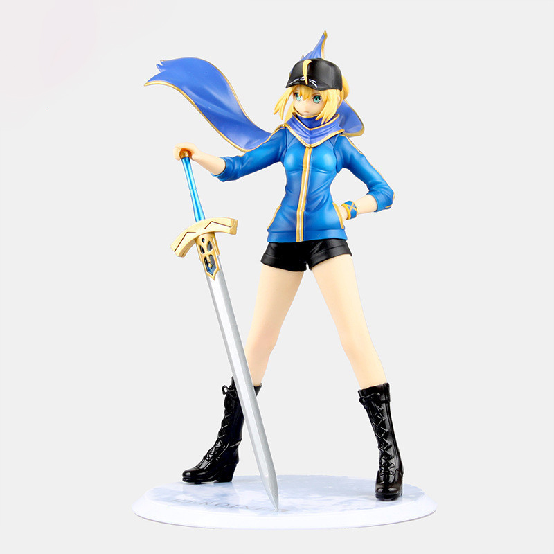 Anime Fate Zero Figure 23CM Fate Stay Night Saber Baseball jackets Action Figure Sexy Girl Lily Figure Toy B19 7