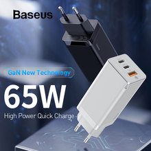 Baseus 65W GaN Fast Charger with Quick Charge 4.0 3.0 PD 3.0 USB Charger For iPhone Macbook Pro Xiaomi 10 Samsung S20 Huawei P40