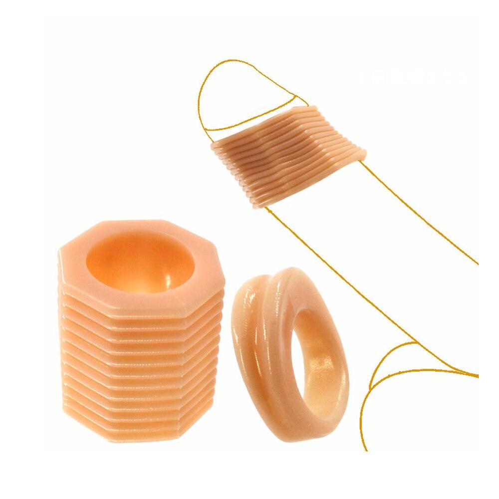 Yunman 2pcs/Set Foreskin Correction Cock Glan Ring Delay Ejaculation Condom Penis Enlargement Sleeve