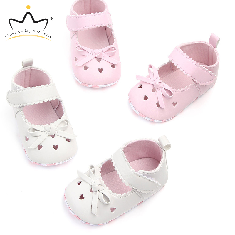 Spring Summer New Toddler Shoes For Baby Girl Cute Bowknot Soft PU Leather Cotton Baby Shoes Princess Girls Shoes First Walkers