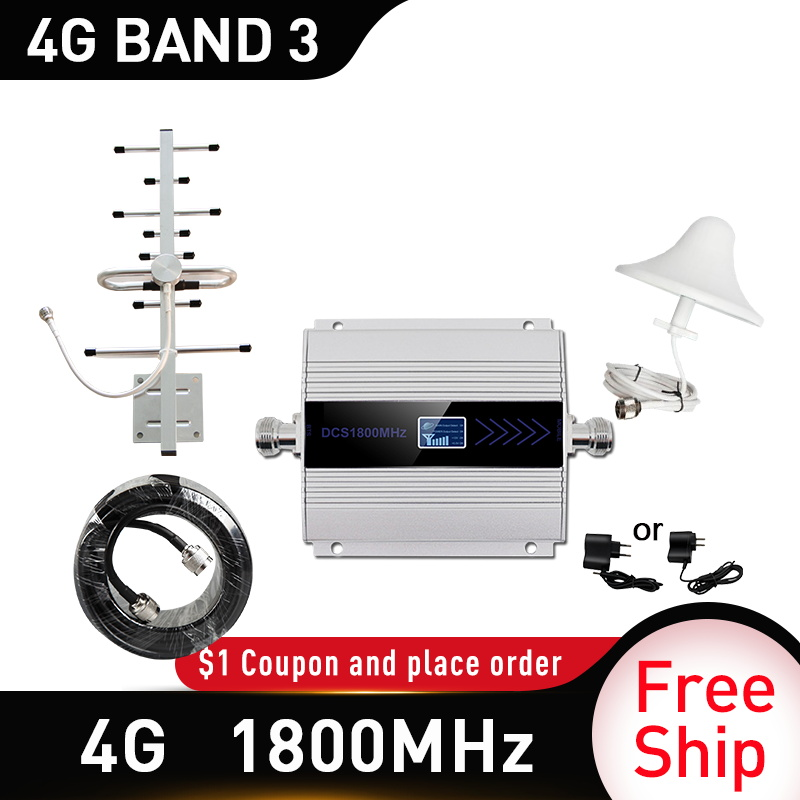 4g Signal Booster 1800mhz LTE GSM Mobile Signal Booster Repeater DCS 1800Mhz Cellphone Cellular GSM 1800 Cell Phone Russia