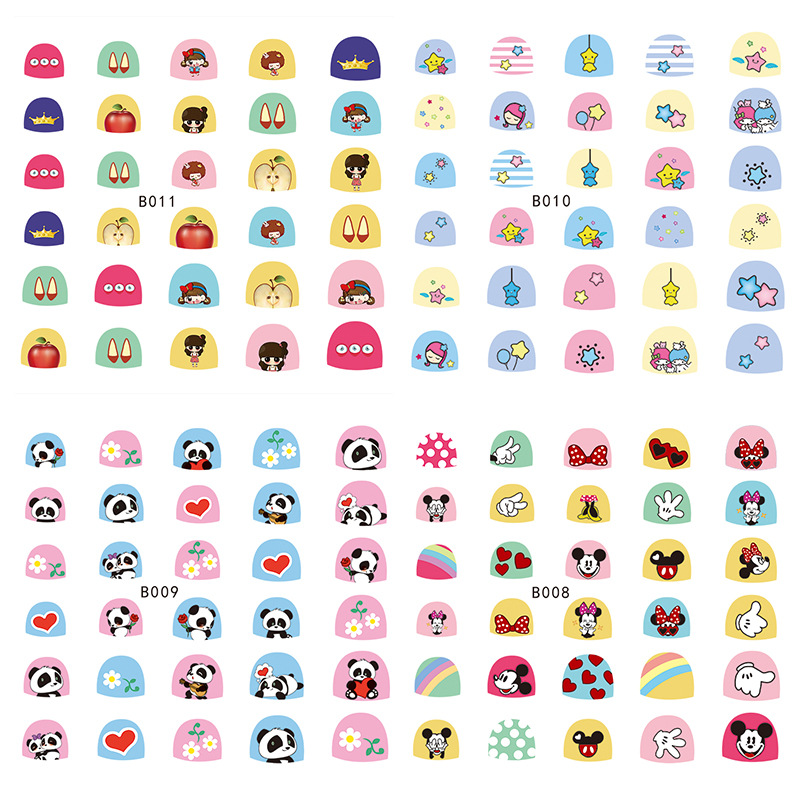 3D-Children Nail Stick Completely B1 Series Nail Sticker 3D Nail Sticker Children Stick Completely Non-toxic Cartoon