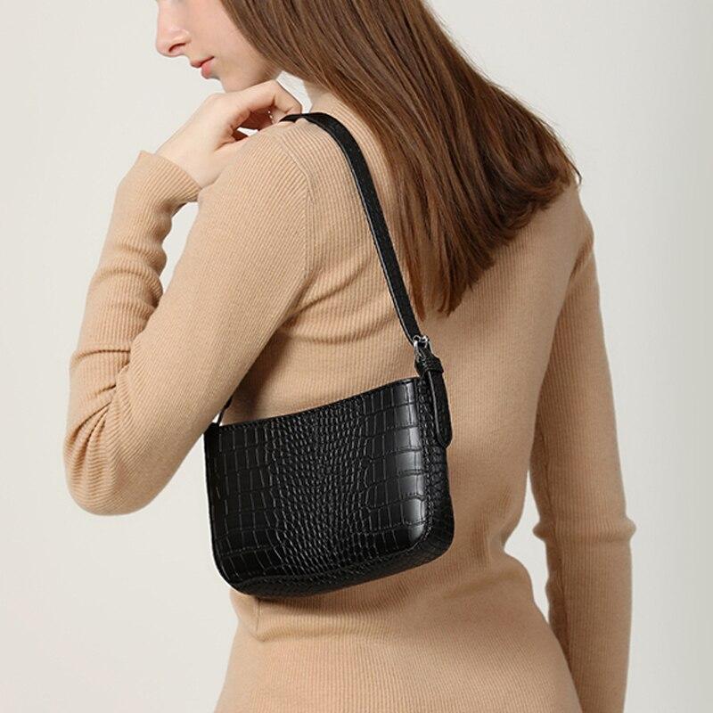 Retro Alligator Pattern Women Messenger Handbag Casual Solid Shoulder Bags For Women PU Leather Ladies Crossbody Bag Bolsas Bags