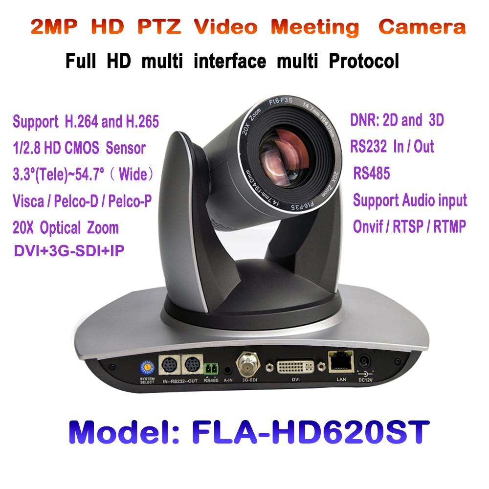 PTZ 20X 1080p 60fps videokonferenční kamera 3G-SDI DVI IP streamování Onvif RTSP RMTP VISCA PELCO