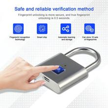Keyless USB Rechargeable Fingerprint Lock Smart Padlock Quick Unlock Anti-theft Safety Security Padlock for Bag Drawer Suitcase