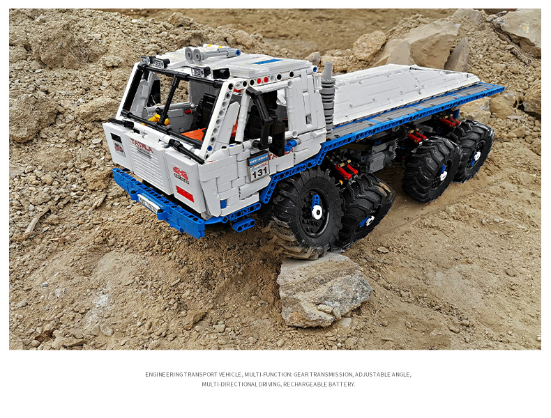MOULD KING 13144 Compatible 27092The Arakawa Moc Tow off-road Truck Tatra 813 8x8 Building Block (3647PCS) 19