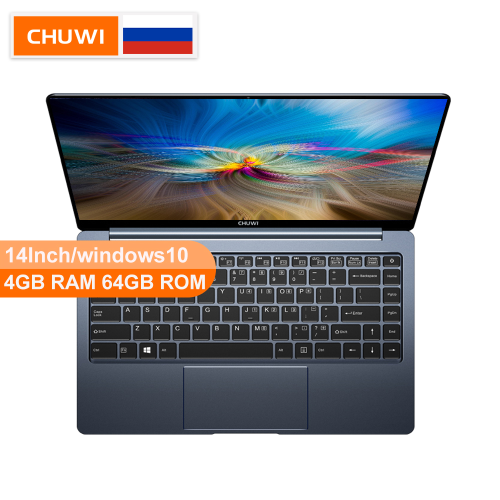Chuwi original lapbook pro 14 Polegada intel gemini-lago, n4100 windows10 quad core 4 gb ram 64 gb rom backlight teclado portátil