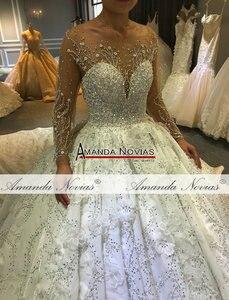 Image 5 - Amanda Novias robe de mariée sur mesure, robe de mariée luxueuse, design, bonne qualité, 2020