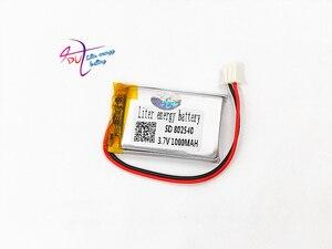 Image 5 - JST XH 2.54 millimetri 802540 3.7V 1000MAH batteria ai polimeri di litio 852540 di codice di scansione strumento altoparlante guida apparato