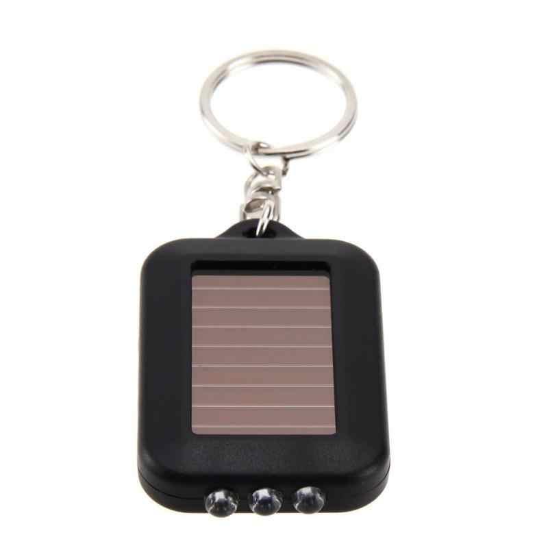 Mini Tragbare Solar Power 3LED Licht Schlüssel Kette Taschenlampe Taschenlampe Schlüssel Ring Geschenk Wiederaufladbare Nützlich Umweltfreundliche Schlüssel Licht