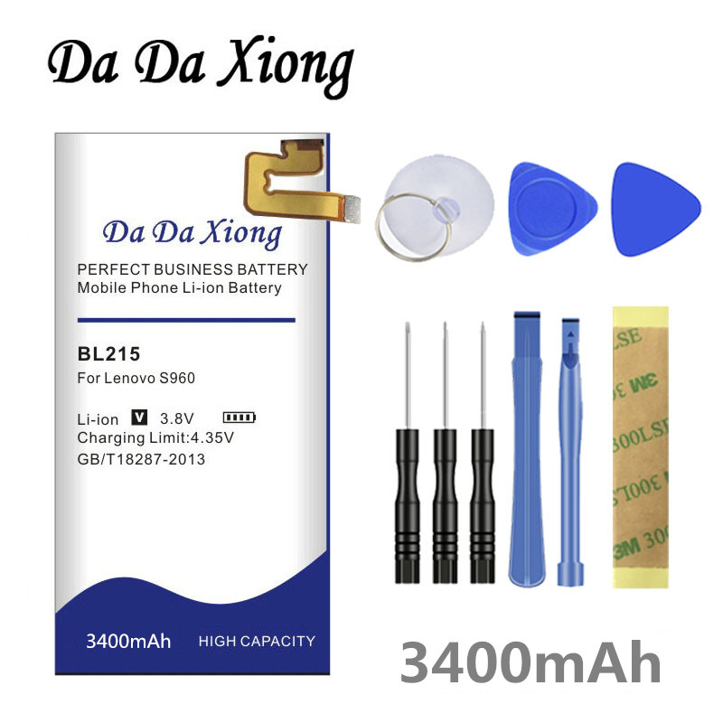 Da Da Xiong 3400mAh BL 215 BL215 <font><b>Battery</b></font> for <font><b>Lenovo</b></font> VIBE X <font><b>S960</b></font> S968T <font><b>battery</b></font> image