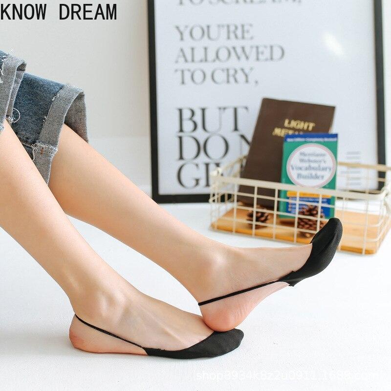 Узнайте мечта носки для женщин и мужчин, хлопковые смешные носки, летние, высокий каблук, подошве и толстом каблуке с закрытым носком; Туфли ...