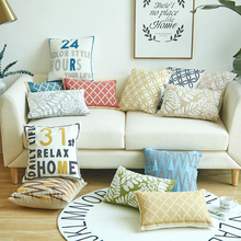 Nordic Embroidery Pillow Cover 100% Cotton Customize Throw Cushion Cover Art Living Room Sofa Soft Decor Lumbar Pillowcase цены