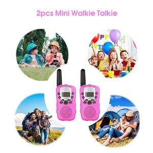 Image 4 - Nouveau 2 pièces Mini talkie walkie enfants Radio Station T388 0.5W PMR PMR446 FRS UHF Portable Radio communicateur cadeau pour enfant