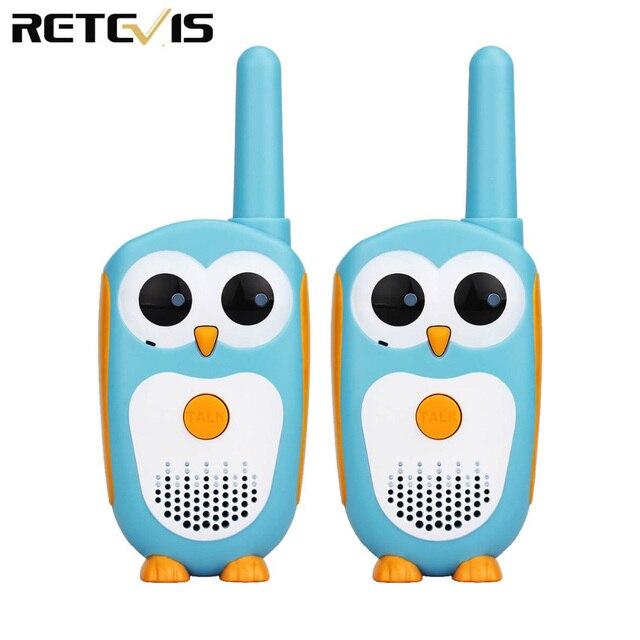 Retevis RT30ミニトランシーバー2個子供ポータブル双方向ラジオ0.5ワット1チャンネル2ボタンおもちゃ単純なクリスマスギフト動作