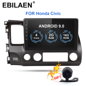 Car DVD Multimedia Player For Honda CIVIC 4d FN 8 Fk 2005-2012 2Din Android 9.0 Autoradio GPS Navigation Radio Cassette Recorder image