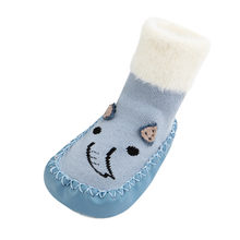 Floor Socks Cartoon Infant Newborn Baby Boys Girls Cartoon Cute Warm Floor Socks Anti-Slip Baby Step Socks Thicken Warm Shoes(China)