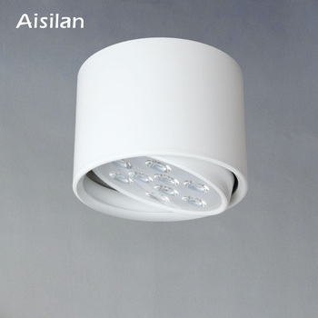 مصباح سقف معلق على سطح إضاءة LED من أيسيلان قابل للتعديل AC85-260V 9 وات/12 وات لإضاءة غرفة المعيشة وغرفة النوم التجارية