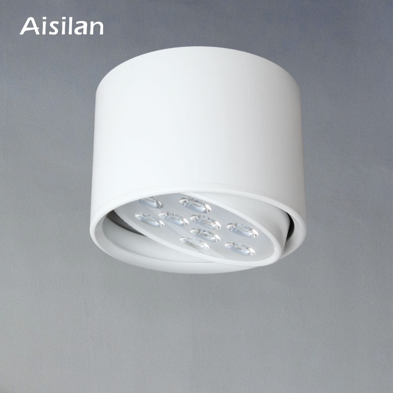 Aisilan LED Downlight Surface Mounted Ceiling Lamps Adjustable AC85 260V 9W/12W for Living Room Bedroom Commercial Lighting|lamp lamp|lamps for living room|lamp for room - title=