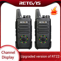 מכשיר הקשר 2pcs RETEVIS RT22S דיבורית מכשיר הקשר RT22 שדרג תצוגה VOX Hidden שני הדרך רדיו דו-כיווני משדר רדיו טוקי (1)