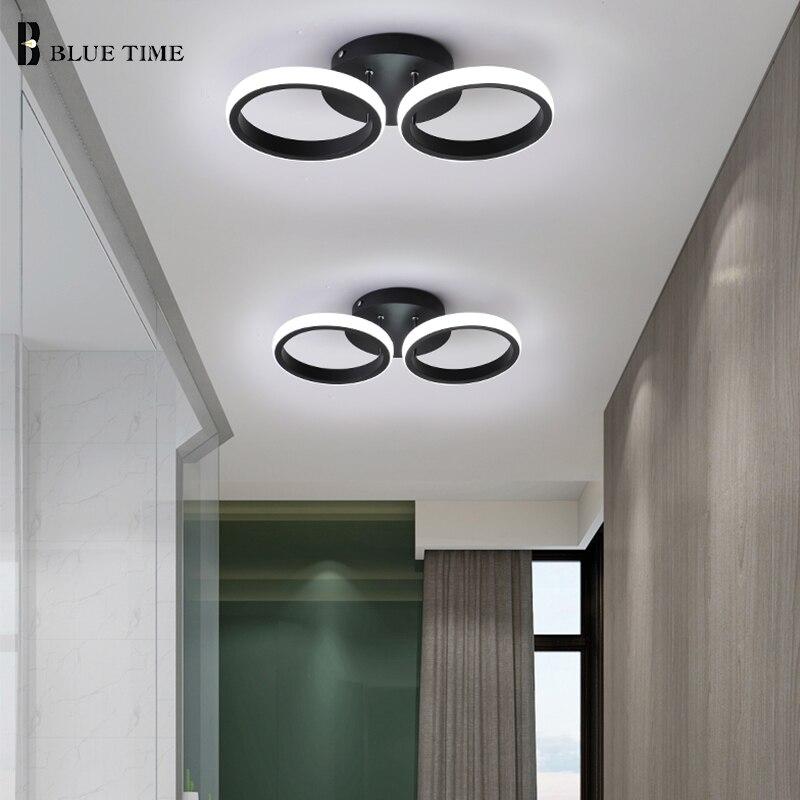 Black&White Led Ceiling Light Metal Modern Ceiling Lamp For Bedrom Living Room Small Deco Home  Aisle Corridor Light Star Lamps